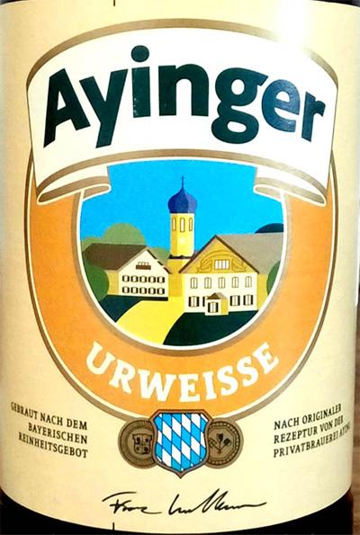 Отзыв о пиве Ayinger urweisse