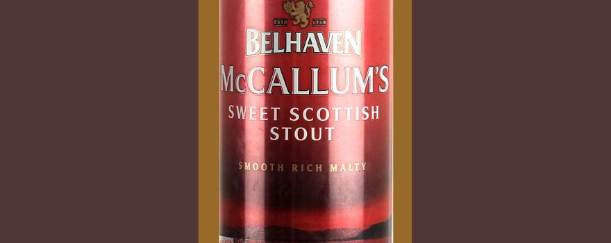 Отзыв о пиве Belhaven McCallum's sweet scottish stout