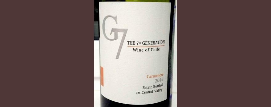Отзыв о вине G7 carmenere 2015