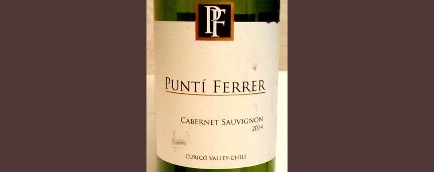 Отзыв о вине Punti Ferre cabernet sauvignon 2014