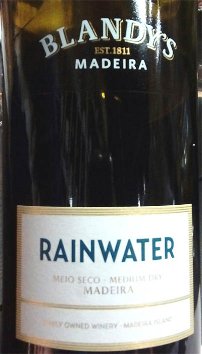 Отзыв о мадере Rainwater Blandy's madeira medium dry 2016