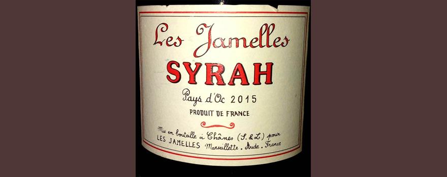 Отзыв о вине Les Jamelles Syrah 2015