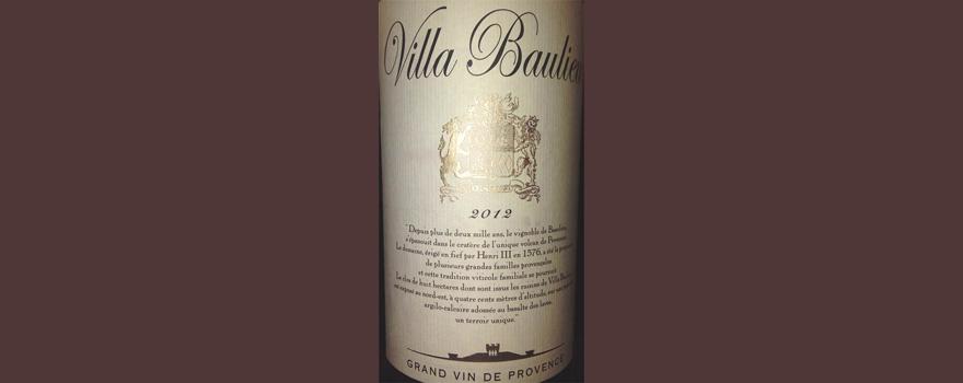 Отзыв о вине Villa Beaulieu rouge grand vin de Provence 2012