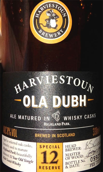 Отзыв о пиве Ola Dubh 12 Harviestoun