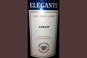 Отзыв о вине Cream elegante jerez Gonzales Byass 2013