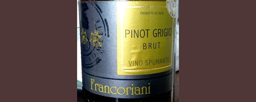 Отзыв об игристом вине Francoriani Pinot grigio brut