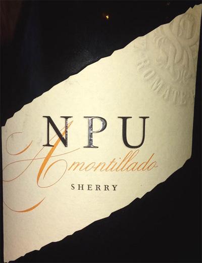 Отзыв о хересе (ликерное вино) NPU Amontillado sherry 2016