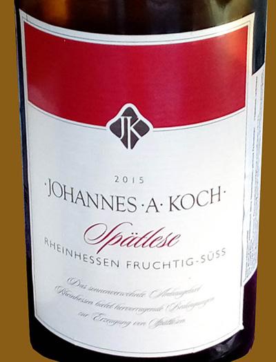 Отзыв о вине Johannes A Koch Spatlese 2015