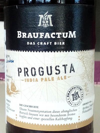 Отзыв о пиве Progusta Indian Pale Ale