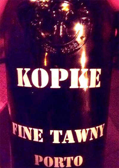Отзыв о портвейне (ликерное вино) KOPKE Fine Tawny porto 2016