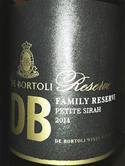 Отзыв о вине DB De Bortoli reserve petit syrah 2014