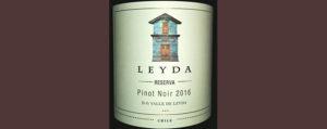 Отзыв о вине Leyda reserva pinot noir 2016