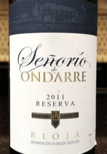 Отзыв о вине Senorio de Ondarre reserva 2011