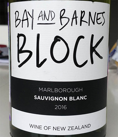 Отзыв о вине Bay and Barnes Block sauvignon blanc 2016