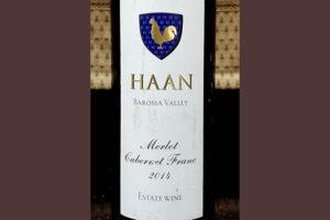 Отзыв о вине Haan Barossa Valley Merlot Cabernet franc 2014