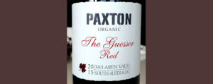 Отзыв о вине Paxton organic The Guesser Red 2015
