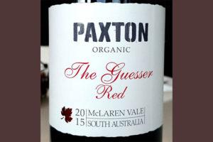 Отзыв о вине Paxton organic The Guesser Red 2015