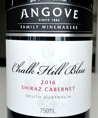 Отзыв о вине Angove Chalk Hill Blue shiraz cabernet 2016