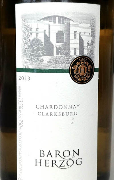 Отзыв о вине Baron Herzog chardonnay clarksburg 2013