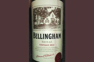 Отзыв о вине Bellingham shiraz vintage 2014