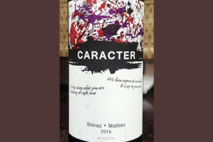 Отзыв о вине Caracter shiraz malbec 2016
