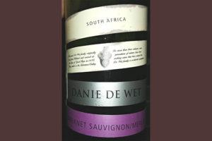 Отзыв о вине Danie de Wet cabernet sauvignon merlot 2015