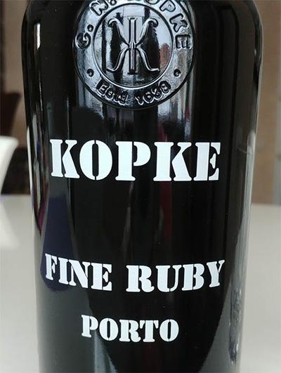 Отзыв о портвейне Kopke fine ruby porto