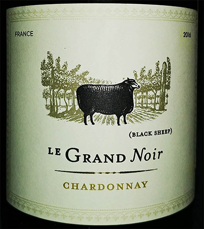 Отзыв о вине Le Grand Noir Black Sheep chardonnay 2016