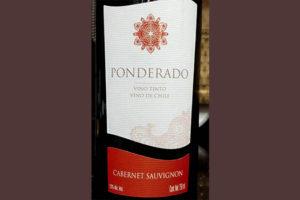 Отзыв о вине Ponderado cabernet sauvignon 2016