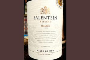 Отзыв о вине Salentein malbec reserve valle de Uco 2015