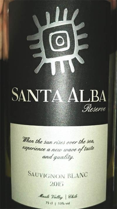 Отзыв о вине Santa Alba reserve Sauvignon Blanc 2015
