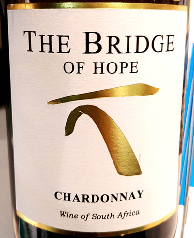 Отзыв о вине The Bridge of Hope chardonnay 2016