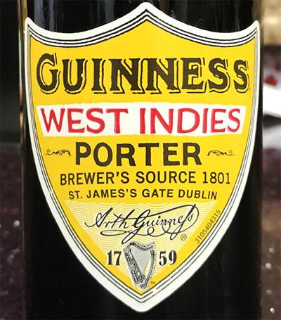 Отзыв о пиве Guinness West Indies porter