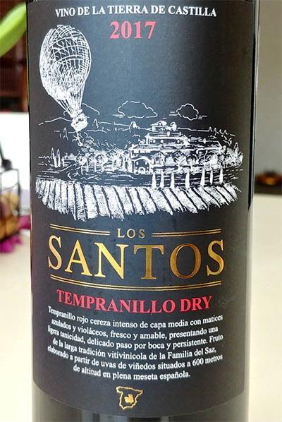 Отзыв о вине Los Santos tempranillo dry 2017