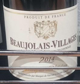 Beaujolais_Villages_2014_Marquise_de_Valclair_label