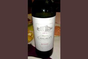 Отзыв о вине Chateau Cangruey