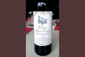 Отзыв о вине Chateau Haute Combe