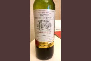 Отзыв о вине Chateau Haut Fontenelle