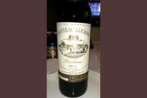 Отзыв о вине Chateau Luciere