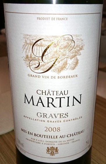Chateau_Martin_Graves_label