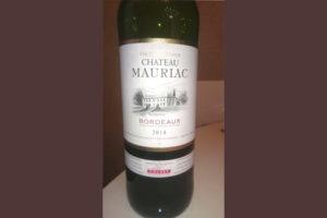 Отзыв о вине Chateau Mauriac