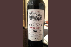 Отзыв о вине Chateau Pradot grand vin de Bordoaux