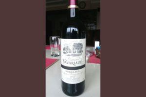 Отзыв о вине Chateau Savariaud