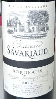 Chateau_Savariaud_label