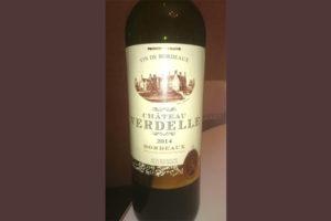 Отзыв о вине Chateau Verdelle