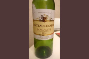 Отзыв о вине Chateau le Sabley