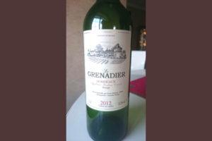 Отзыв о вине Le Grenadier 2012