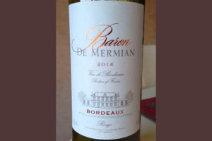 Отзыв о вине Baron de Mermian 2014
