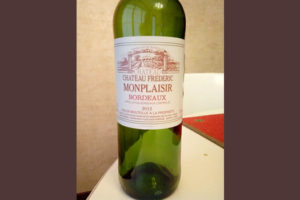 Отзыв о вине Chateau Frederic Monplaisir 2012
