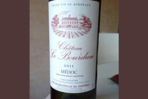 Отзыв о вине Chateau le Bourdieu 2012